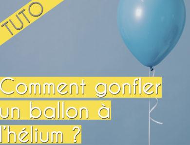 Comment gonfler un ballon à l'hélium?